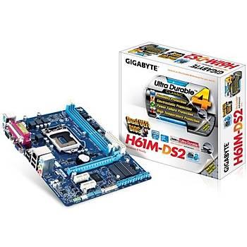 Gigabyte H61M-DS2 1333Mhz DDR3 VGA 1155p Anakart