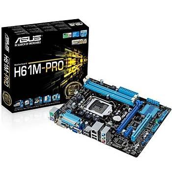 Asus H61M-PRO DDR3 1600MHz VGA 1155p Anakart