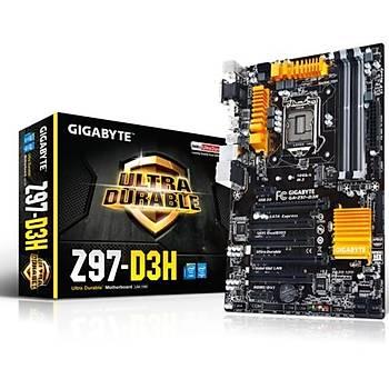 Gigabyte Z97-D3H/DDR3 1600MHz VGA 1150p Anakart