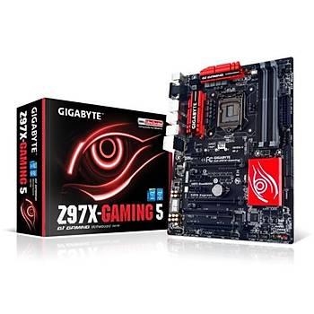 Gigabyte Z97X-Gaming 5/DDR3 1600MHz VGA 16X 1150P Anakart