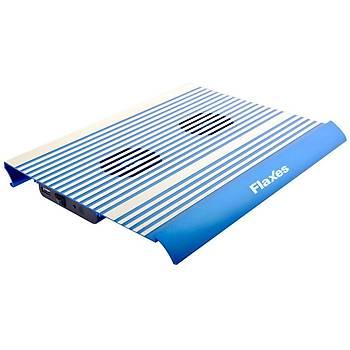 Flaxes FN-3333M Alüminyum Çift Fanlý Notebook Soðutucu