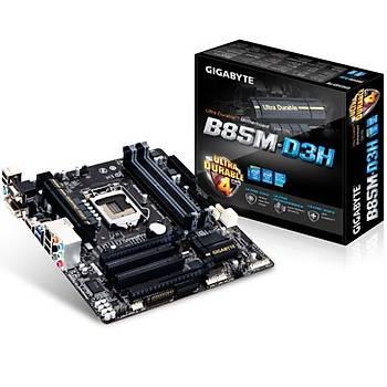 Gigabyte B85M-D3H 1600MHz DDR3 VGA 16X 1150p Anakart