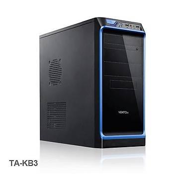 Vento TAK-B3 450W ATX Siyah Mavi Kasa