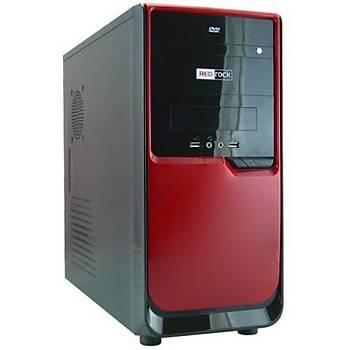 Redrock V1215HR 300W ATX Siyah Kýrmýzý Kasa