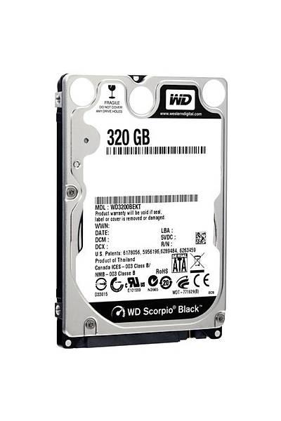 WD 2.5 320 GB Black 7200 rpm 16MB sata 3 WD3200BEKX