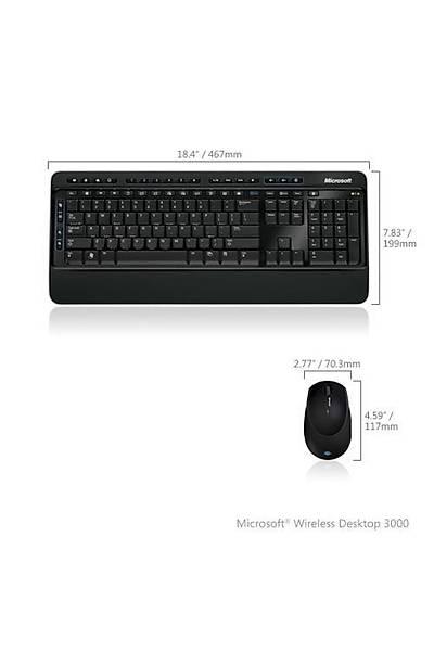 MS MFC-00018 Kablosuz Klavye Mouse Set BlueTrack