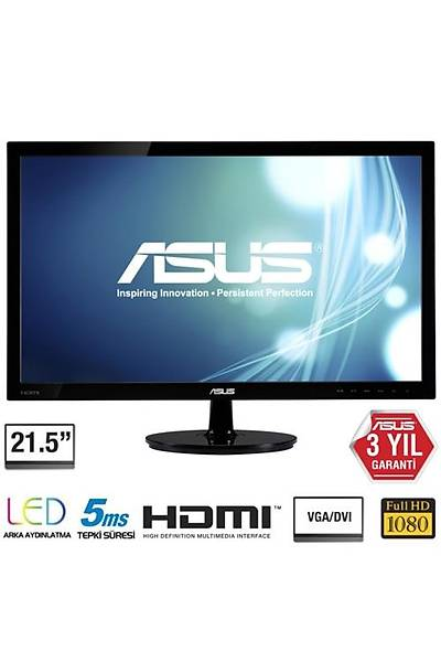 Asus 21.5 VS228HR Full HD LED Monitör 5ms Siyah