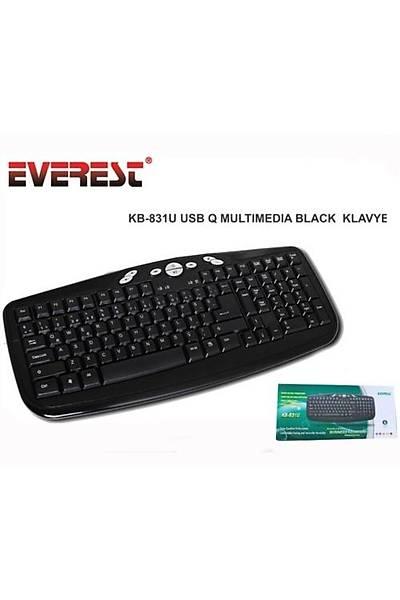 Everest KB-831U Multimedia Klavye Siyah USB