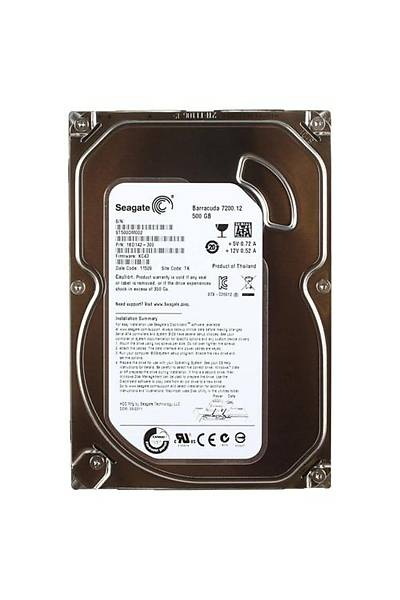 Seagate 500GB 7200Rpm 16Mb Sata3 Harddisk