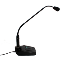 DM01U1 PTT düðmeli masa mikrofonu (deveboynu)