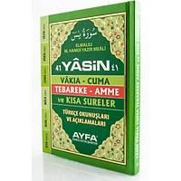 Türkçe Okunuþlu Mealli 41 Yasin/ Sert Kapaklý Fihristli Cep Boy/ 128 Sayfa 10x15cm Kod 048