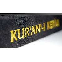Kabe Görünümlü Ahþap Kur'an-ý Kerim Muhafazasý, Kadife Kuran Mealli