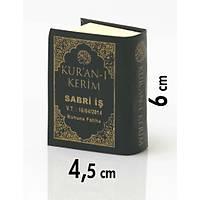 Ýsim baskýlý Mini Kuran/ Tül Kese içersinde/ EN AZ 50 Adet Olmalý 6x4,5 cm