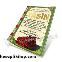 Yasin Kitabý Tül Kese Gül Kokulu Tesbih ORTA BOY 16X24 cm 160 sayfa