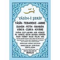 Mevlüt Seti Yasin Kitabý Mavi Kapak 16x24 cm Mevlüt Þekeri Külahý +Tül Kese