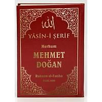 isim Baskýlý Yasin kitabý Sert Kapak suni deri Orta Boy 17X25 cm 50 ad.