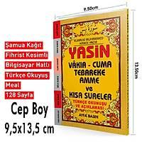 Yasin Türkçeli Üçlü Fihristli Cep Boy 128 Sf. 9,5x13,5cm