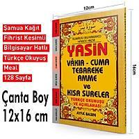 Yasin Türkçeli Üçlü Fihristli Çanta Boy 128 Sf. 12x16cm