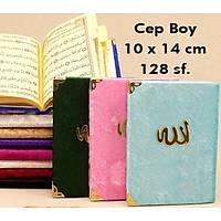 Cep boy Kadife Yasin kitabý Allah Lafýzlý 10x14cm