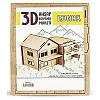 3D Maket Ahþap Konak