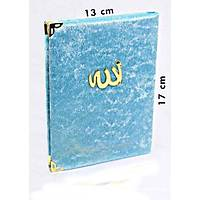 Kadife Kaplý Yasin kitabý Allah Lafýzlý Çanta boy 13x17cm