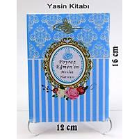 Çanta Boy Mavi Yasin Kitabý Tül Magnet Tesbih Kutu