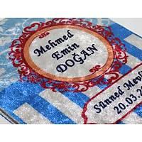 Özel Renkli isim Baskýlý Kadife Yasin Kitabý Çanta Boy 13x17 cm 128 sayfa KOD-B3