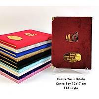 Kadife Yasin Kitabý Pleksi isimli Çanta Boy 13x17 cm