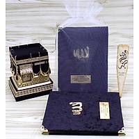 Tül keseli Kadife Yasin kitabı Çanta Boy 13X17 cm 128 sf.