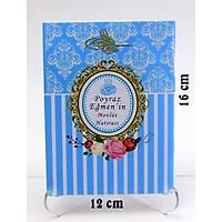 Çanta Boy Mavi Yasin Kitabý Tül Tesbih Çikolata