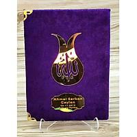 Lüks Kadife Yasin kitabi Seti isimli inci Tesbih Seccade