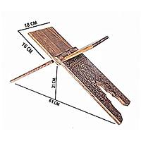 Orta Boy Selçuklu Yakma Desenli Ahþap Rahle 18x55 cm