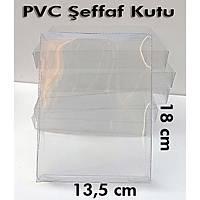 PVC Þeffaf Kutu Büyük boy 18x13,5cm/ 25 adet