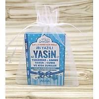 Mini Yasin Kitabý Mavi Tül Keseli 6x10 cm
