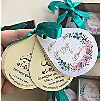 özel isimli Damla þeklinde Esma ül Hüsna Kutulu isimli çikolata