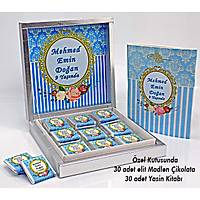Ýsme özel Erkek Bebek Çikolatasý ve Yasin Kitabý