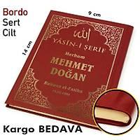isim Baskýlý Yasin kitabý Sert Kapak suni deri Ciltli CEP BOY 128 Sf. 9x14 cm 50 ad.