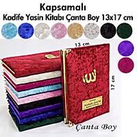 Kapsamlý Kadife Yasin kitabý 216 sayfa Çanta Boy 13x17 cm