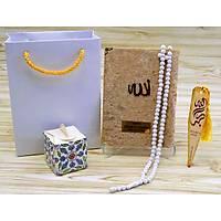 Kadife Yasin kitabý SET isimli Gül kokulu Tesbih ipli çanta Mevlüt hediyesi