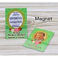 Çanta Boy Yasin Kitabý Tül Tesbih Magnet Yeþil Kapak