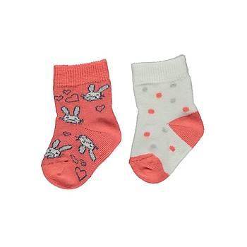 Bebetto Çorap Soket 2li Nar Çiçeði  6-12 Ay