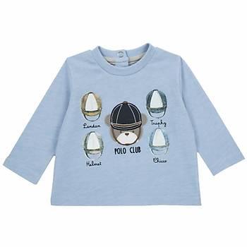 Chicco T-Shirt Uzun Kol Mavi  9 Ay