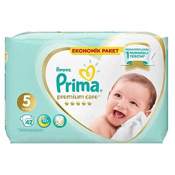 Prima Premium Care Bebek Bezi 5 Beden Juniour 18+ Kg 42li Ekonomik Paket