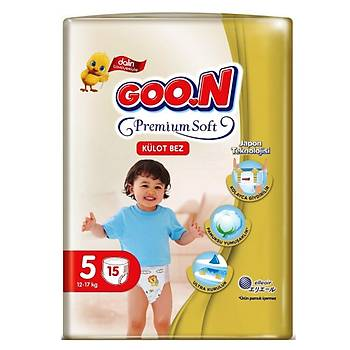 Goon Premium Külot Bebek Bezi 5 Beden 12-17 Kg 15li Eko Paket