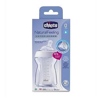 Chicco Natural Feeling Silikon Emzikli Cam Biberon 250 ml 0+ Ay