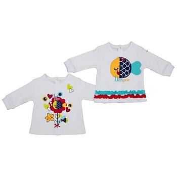 Bebepan Sweatshirt 2li Mrs Fish 0-3 Ay
