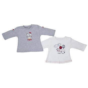 Bebepan Sweatshirt 2li Mrs.Owl Orjinal Orijinal 6-9 Ay