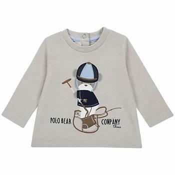Chicco T-Shirt Uzun Kol Bej  9 Ay