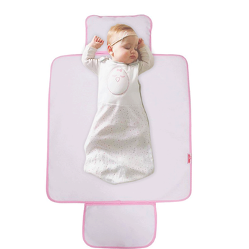 Sevi Bebe Cepli Alt Açma Minderi Pembe