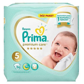 Prima Premium Care Bebek Bezi 5 Beden Juniour 18+ Kg 26li